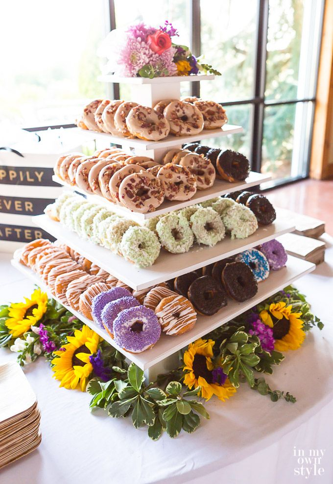 How To Make A Tiered Donut Wedding Cake Stand Wedding Donuts