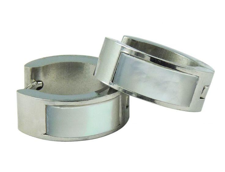 Náušnice chirurgická nerez pruh stříbrné 32844-2 | Bižuterie Kozák