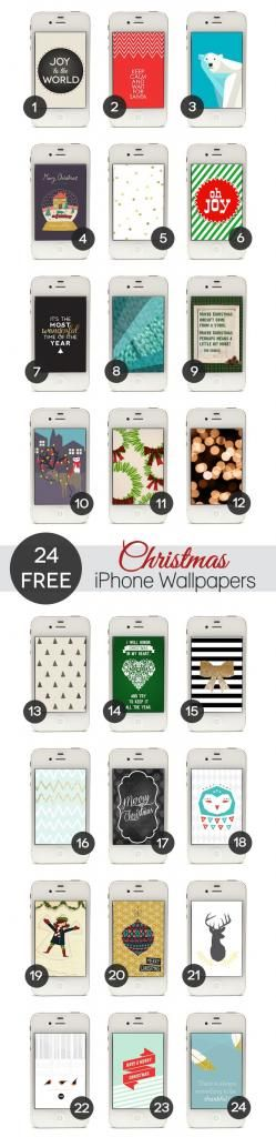 Free Christmas iPhone Wallpapers (blog also has links to free social media icons + directions on how to add them to your blog)