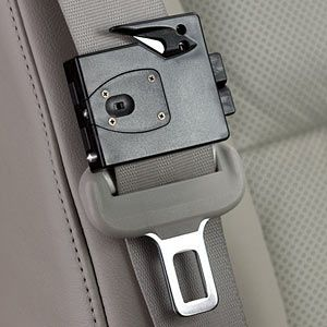 ExiTool Automotive Rescue Tool. I have a something like this but this attaches right to the seat belt within reach in an emergency.