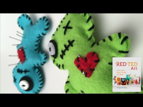 Voodoo Doll Pincushion How To - a Great Beginner's Sewing Project - Red Ted Art's Blog