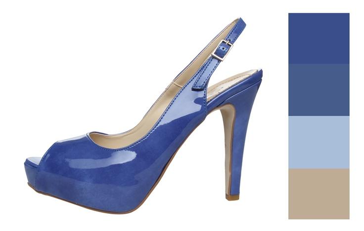 Kék Scarpe Italiane cipő inspirálta színpaletta.