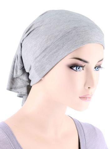 CE-BDNAWRAP-HEATHERGRAY#Bandana Wrap in Heather Grey