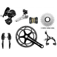 Campagnolo Athena Groupset 2x11 CT Compact - Deep Black