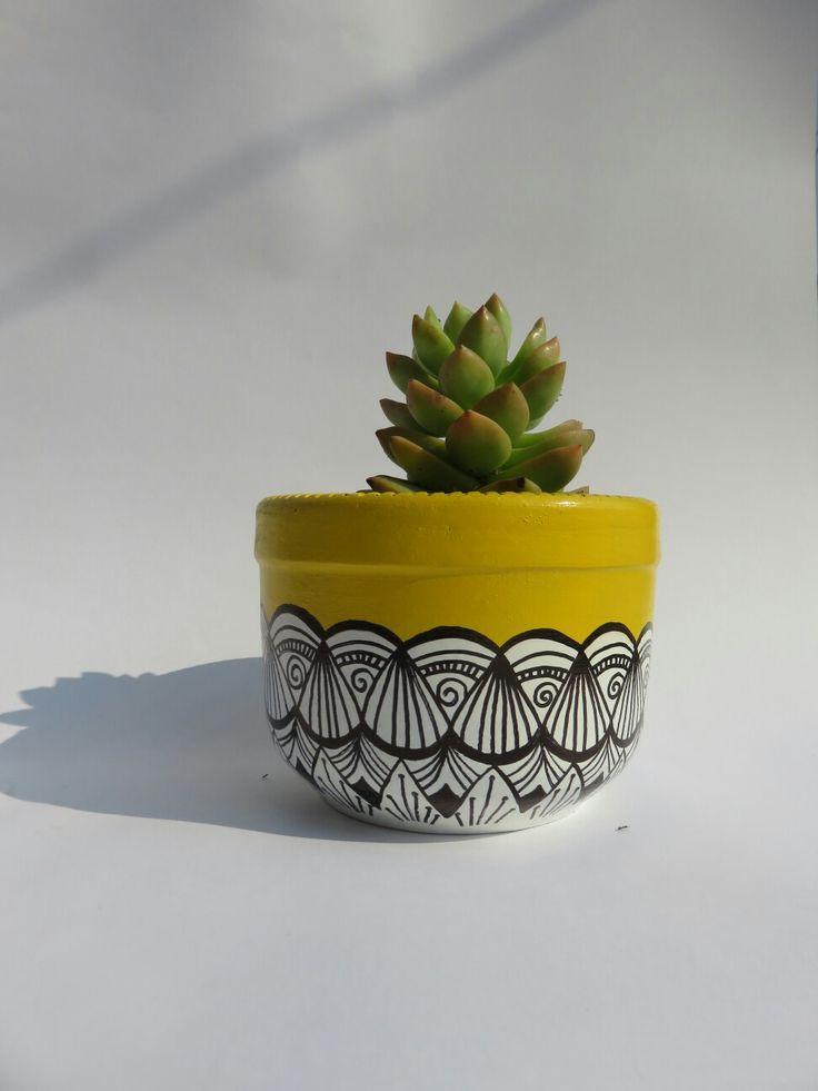 Succulent deco vase