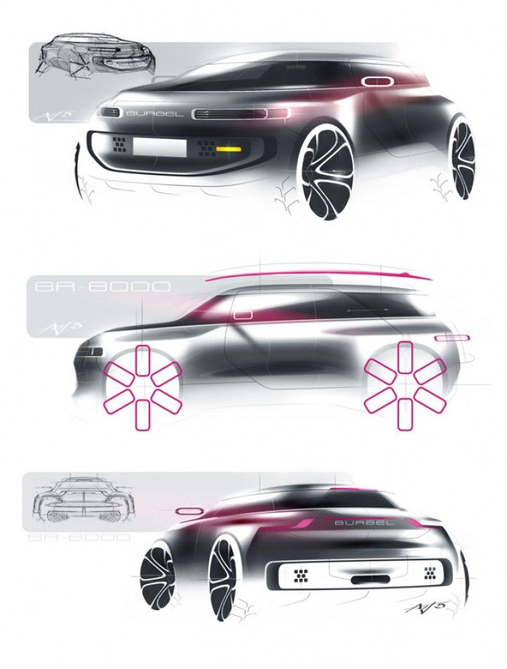 Gurgel BR-8000 Concept by Arthur Martins - Design Sketches