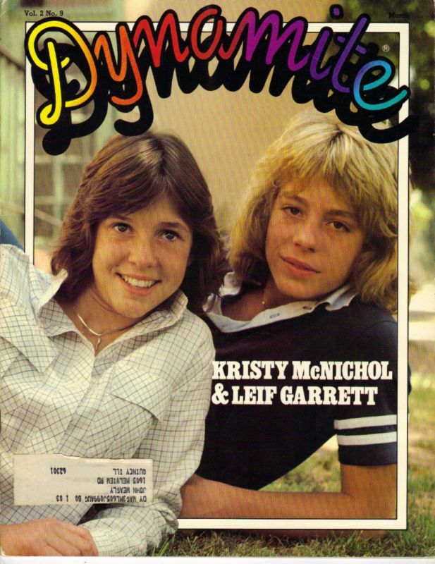 Kristy McNichol and Leif Garrett on the cover of Dynamite magazine (March 1979)