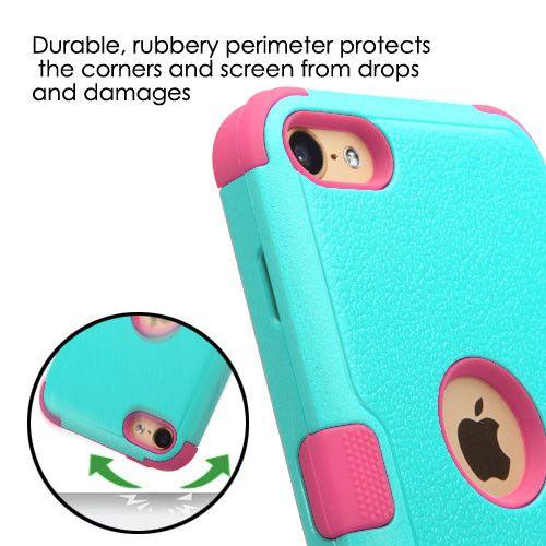 MYBAT TUFF II Apple iPod Touch 5th / 6th Gen Case - Teal Green/Pink