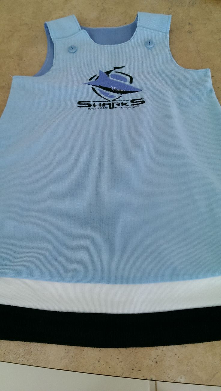 Cronulla sharks dress made for miss Kayleigh....should make her dad happy