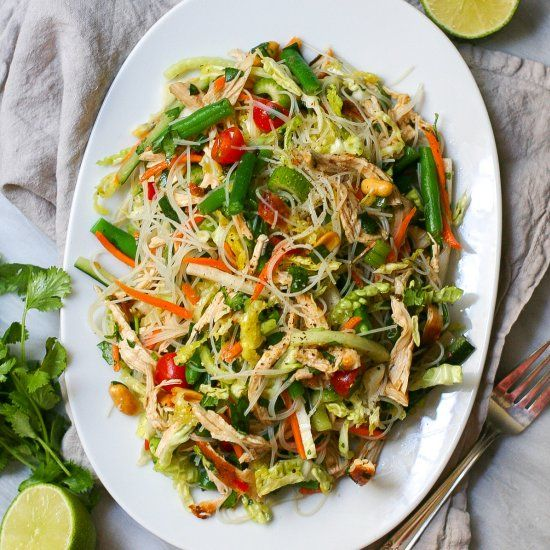 Vietnamese Chicken Salad- loaded with flavor and fresh veggies.