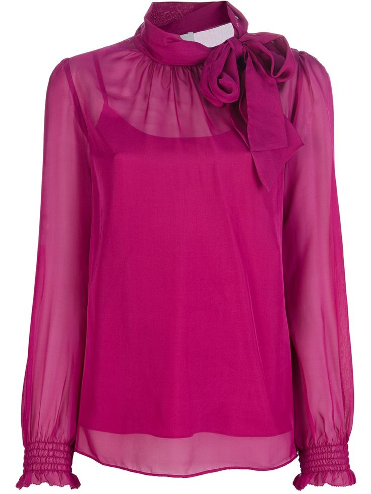 Red Valentino Pussybow Silk Blouse - Twist'n'scout-paleari Online Store - Farfetch.com