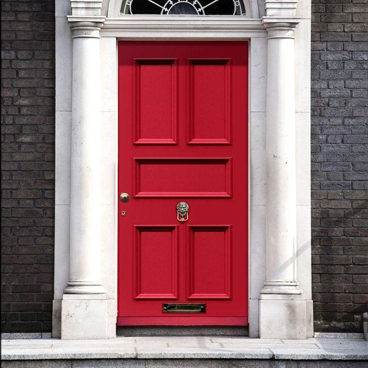 Made to order exterior door, Victorian Faraday door - made to measure to your sizes. #redfrontdoor #redenglishdoor #victoriandoor