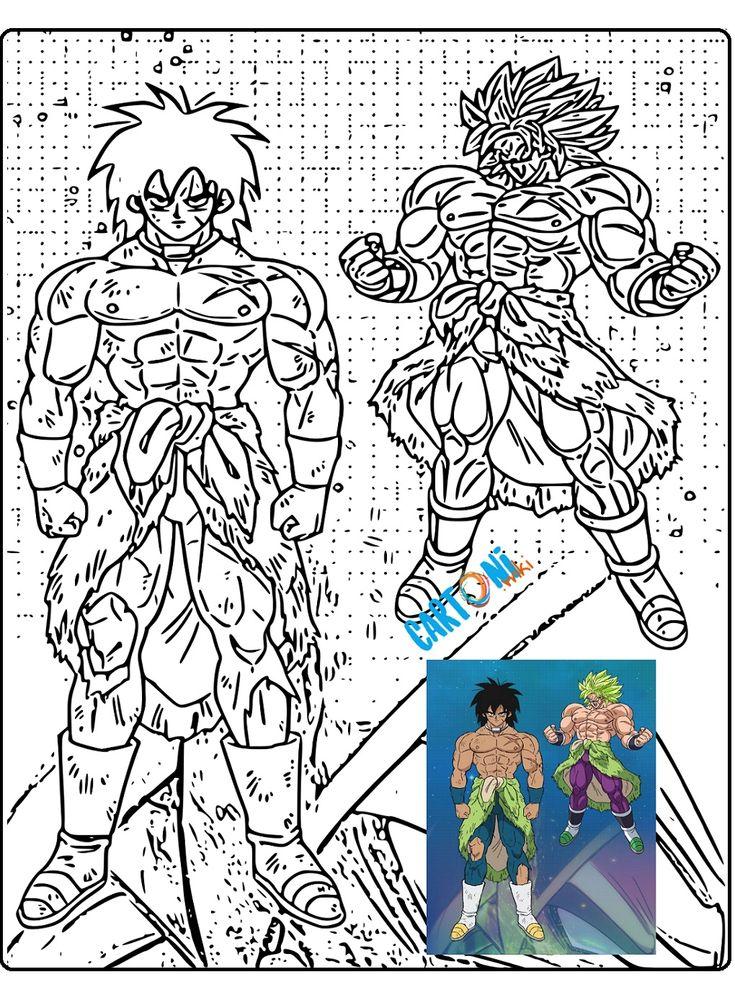 Dragon Ball Super Broly disegni da colorare con i