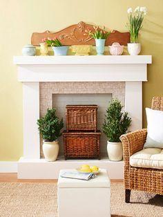 Empty Fireplace Ideas on Pinterest | Artificial Fireplace ...