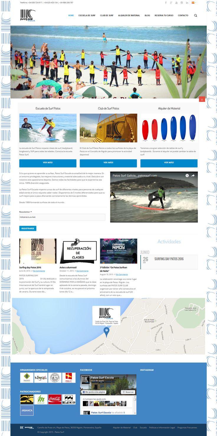 Website da Patos Surf