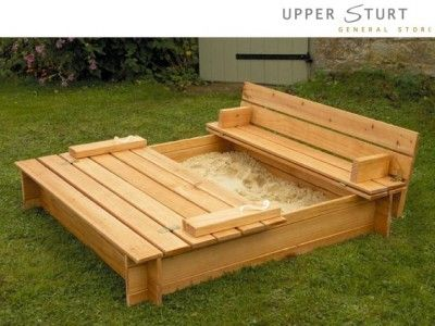 DIY Sandbox.  A.) I wish I owned the tools necessary to build such amazing things.  B.)  I wish I weren't afraid to use said tools to build such amazing things.
