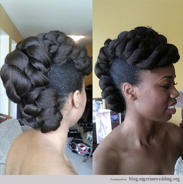 Nigerian Wedding Natural Hairstyles Hair Worthy Ideas Pinterest