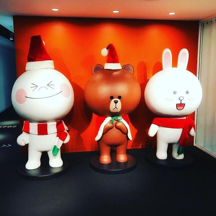 クリスマスがLINEにやってきた #xmas #shibuya #line #ブラウン #コニー #ムーン
