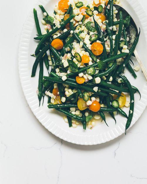 Green Bean Corn + Sungold Tomato Salad | Milly's Kitchen