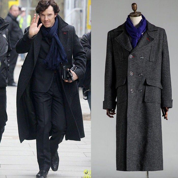 Detective Sherlock Holmes cosplay costume overcoat