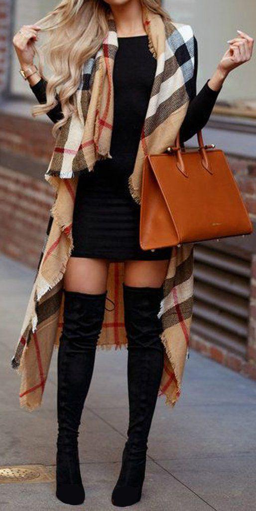 süße herbst winter outfit ideen für frauen