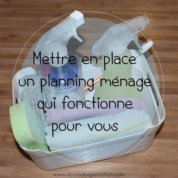 Mettre en place un planning ménage qui fonctionne pour vous . Planning a…