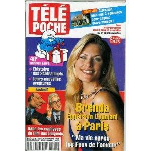 Télé Poche (n°1709) du 09/11/1998 - Brenda Epperson Doumani - les Guignols de l'info - les Schtroumpfs - Fabien Pelous - Blague à part - Juliette Binoche - Jeanne Moreau - ... [Magazine mis en vente par Presse-Mémoire]