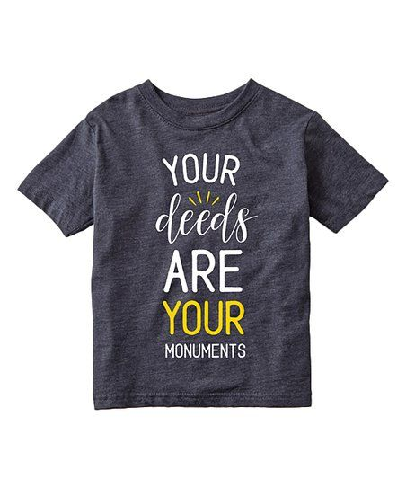 Instant Message Heather Blue Your Deeds Tee - Toddler & Kids | zulily