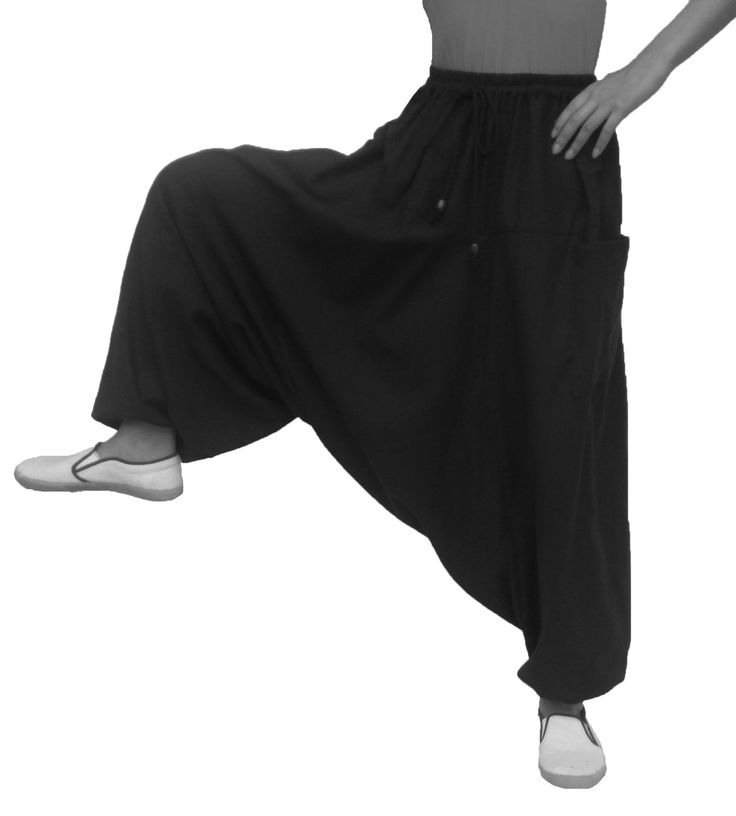 "ChiangmaiThaiShop Yoga Harem Pants Plus size Rayon Baggy Boho Aladdin Bohemian Baggy Colorful Plants. (Medium, Black). Made from 100% soft Rayon, For Yoga, Maternity, Casual, For Summer or Autumn, Beach, Street Dance, day-to-day relaxation,you can wear it around the house and travel.Medium size : Elastic Waist for 26"" - 42"" , Hips up free , Length approx. 37"" Large size : Elastic Waist for 30"" - 48"" , Hips up free, Length approx 42"", 2 pocket.Elasticated waistband and elasticated openings…"