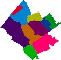 Alle stadsdelen van Westland