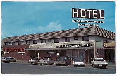 Fort Motor Hotel Alaska Highway Downtown St John Ebay Postcards The Lost Collection Pinterest S Motors And Hotels