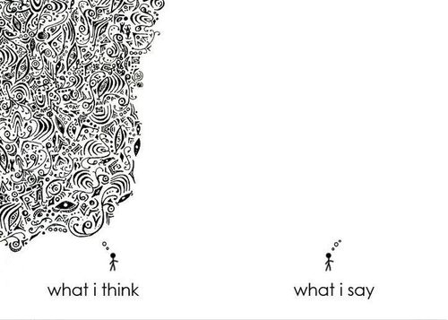 What I think... What I say