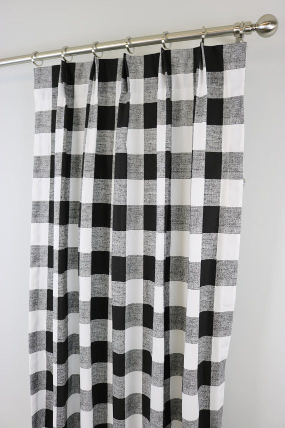 Buffalo Check Curtains Dining Room