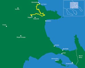 The Aristoteleian Route From New to Ancient Stageira  Route Length 32,19km