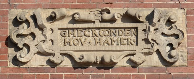 Old centre, Leiden, the Netherlands. Typeface unknown