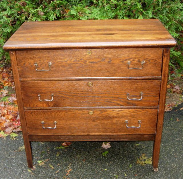 Vintage  Drawer Oak Dresser