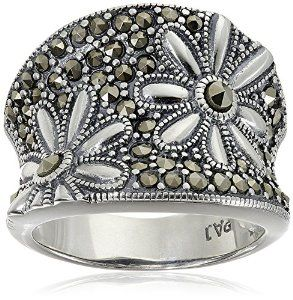 New to Krissy Loves Bling! Tonight we stumbled across this awesome floral #marcasite ring! #krissylovesbling