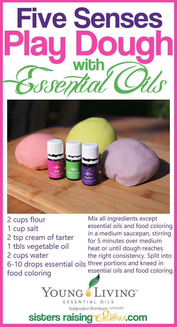 Adding essential oils to this play dough recipe increases the sensory and therapeutic experience and engages all the senses.