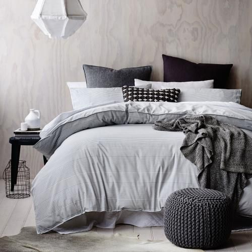 In a modern stripe design of soft neutral tones, Home Republic's Organic Grayson quilt cover set will create an elegant, effortless look in any bedroom. The certified organic cotton, sourced from chemical and pesticide free plantations has been used to create the highest quality linen. Non toxic dyes add to the luxurious feel and are great for those with sensitive skin.