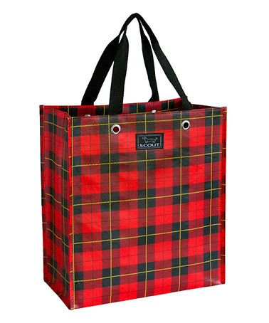 Look what I found on #zulily! Red Tartan Shopper by SCOUT by Bungalow #zulilyfinds