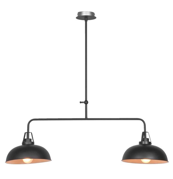 Hanglamp Dave: helemaal van nu, deze industriële hanglamp. Mooie verlichting boven je stoere eettafel