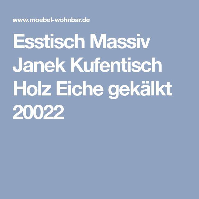 Esstisch Massiv Janek Kufentisch Holz Eiche Gekälkt 20022