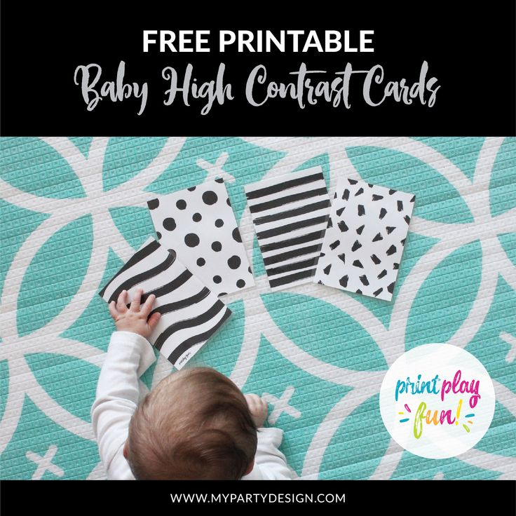 FREE Printable Baby High Contrast Cards | My Party Design ...
