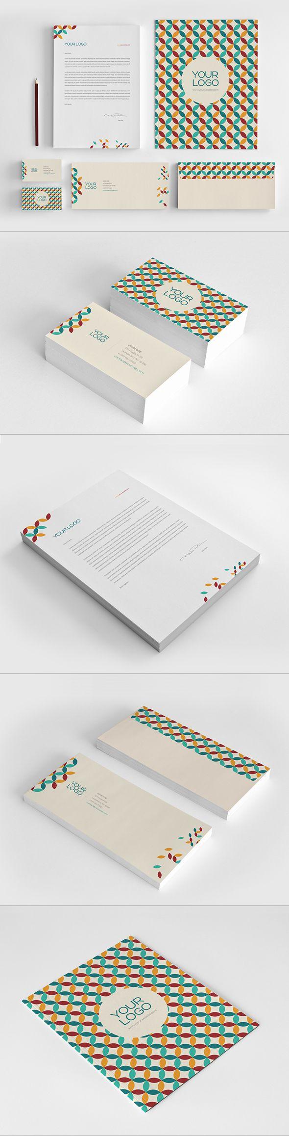 Retro Stationary Pack by Abra Design, via Behance