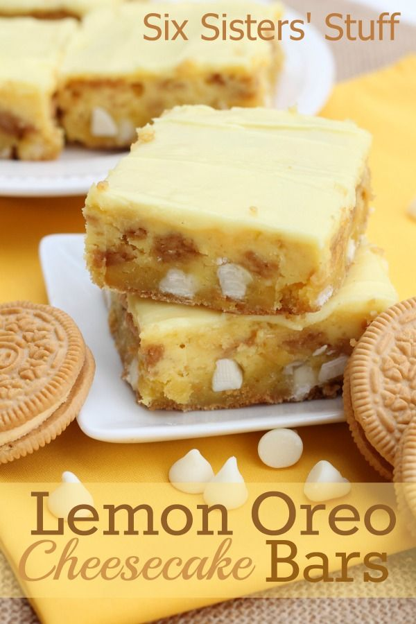 Lemon Oreo Cheesecake Bars from Six Sisters' Stuff!