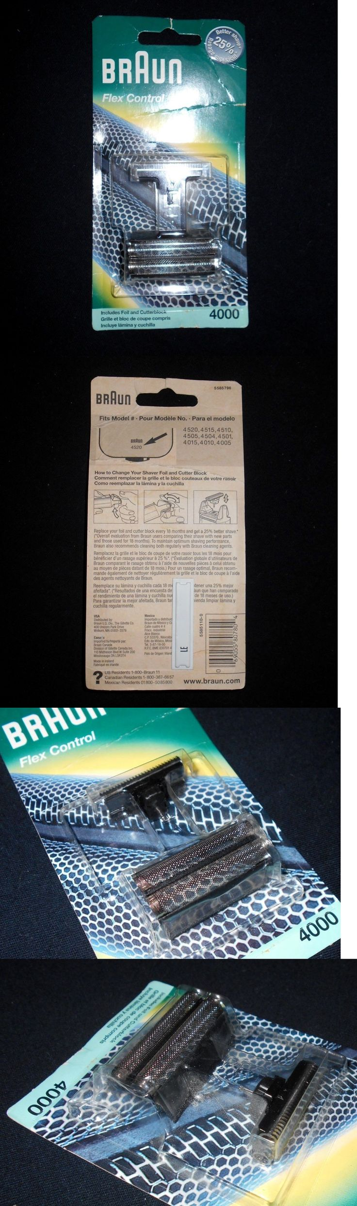Shaver Parts and Accessories: Older Braun Series 4000 Flex Control Men Shaver Replacement Foil Cutter Old-New -> BUY IT NOW ONLY: $37 on eBay!