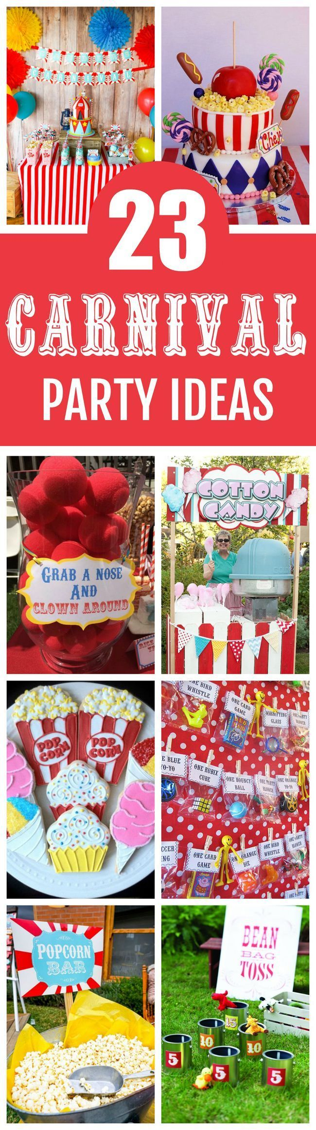23 Incredible Carnival Party Ideas featured on Pretty My Party