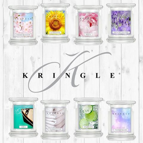 Kringle Candle's distinctive crisp, white shades fit every décor scheme with understated elegance. No matter which scent or style you select, these carefully-crafted candles are an ideal match for every setting in every room.  Best of all, each Kringle Candle will fill your home with lush, long-lasting and always-authentic fragrances.