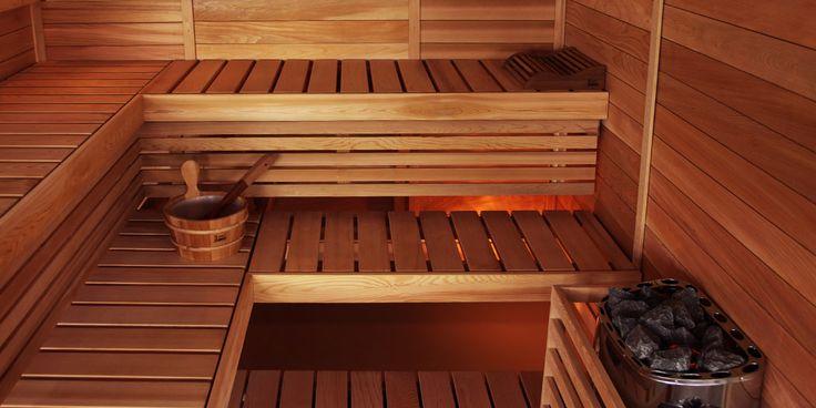 Traditional Finnish sauna is beautiful and simple. Minimalist is beautiful.  Sauna heater: Scandia   #SAWO #SAWOsauna #SAUNA #Saunaheater #Basic