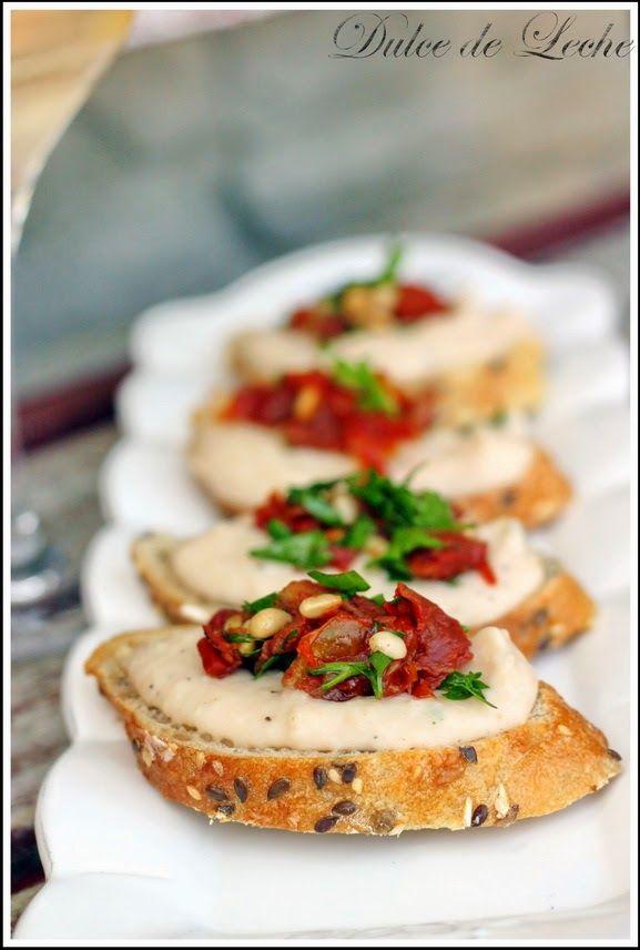 Dulce de Leche: Toskánske bruschetty z bielej fazule a sušených rajčín